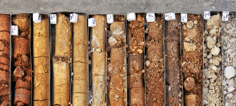 Soil Borehole Samples Example Photo